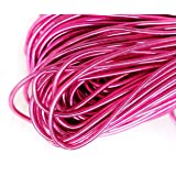 10g Pink Round Smooth Copper Hand Embroidery French Fine Metallic Wire Goldwork Bullion Luneville Tambour Indian Gimp Dabka Purl Thread (Color: Pink, Tamaño: 1mm)
