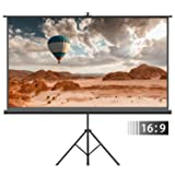 Projector Screen with Tripod Stand – FEZIBO 100 inch 16:9 HD Projection Screen with Stand Portable Foldable for Outdoor Indoor,160° Viewing Angle (Tamaño: Tripod Projector Screen)