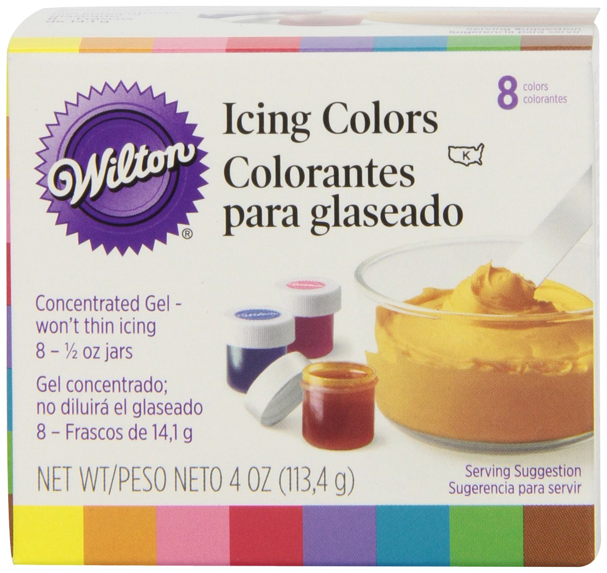 Wilton Set of 8,12 Icing Colors | eBay