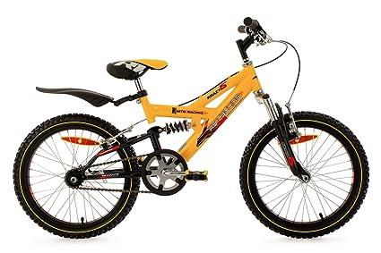 "KS Cycling Krazy VTT Enfant Jaune 18"" 30 cm"