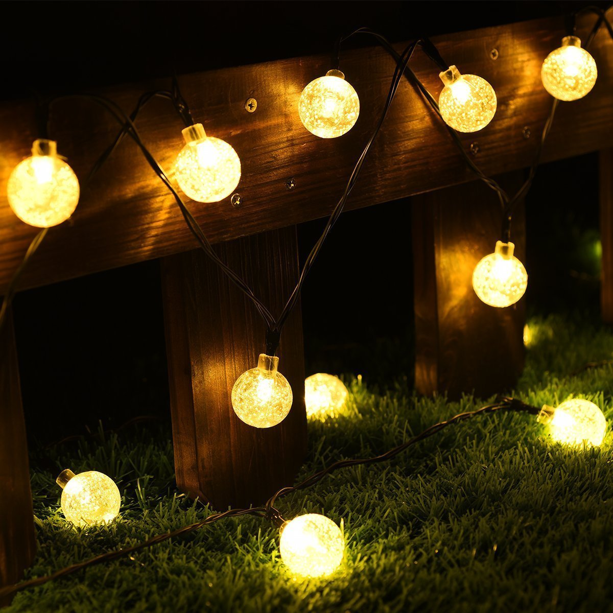 Globe String Lights Cmyk 20 Ft 30 Crystal Balls Waterproof Led Fairy Lights Outdoor Starry