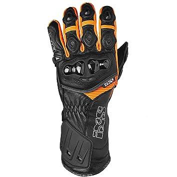 IXS 200 rS-gants pour homme-cuir noir-orange