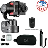 EVO SS 3 Axis Wearable Gimbal - Stabilizer for GoPro Hero4, Hero5, Hero6 Black, Yi 4K+, Garmin Virb Ultra 30-1 Year USA Warranty | Bundle Includes: EVO SS Gimbal + EVO PA-100 Painter's Pole Adapter