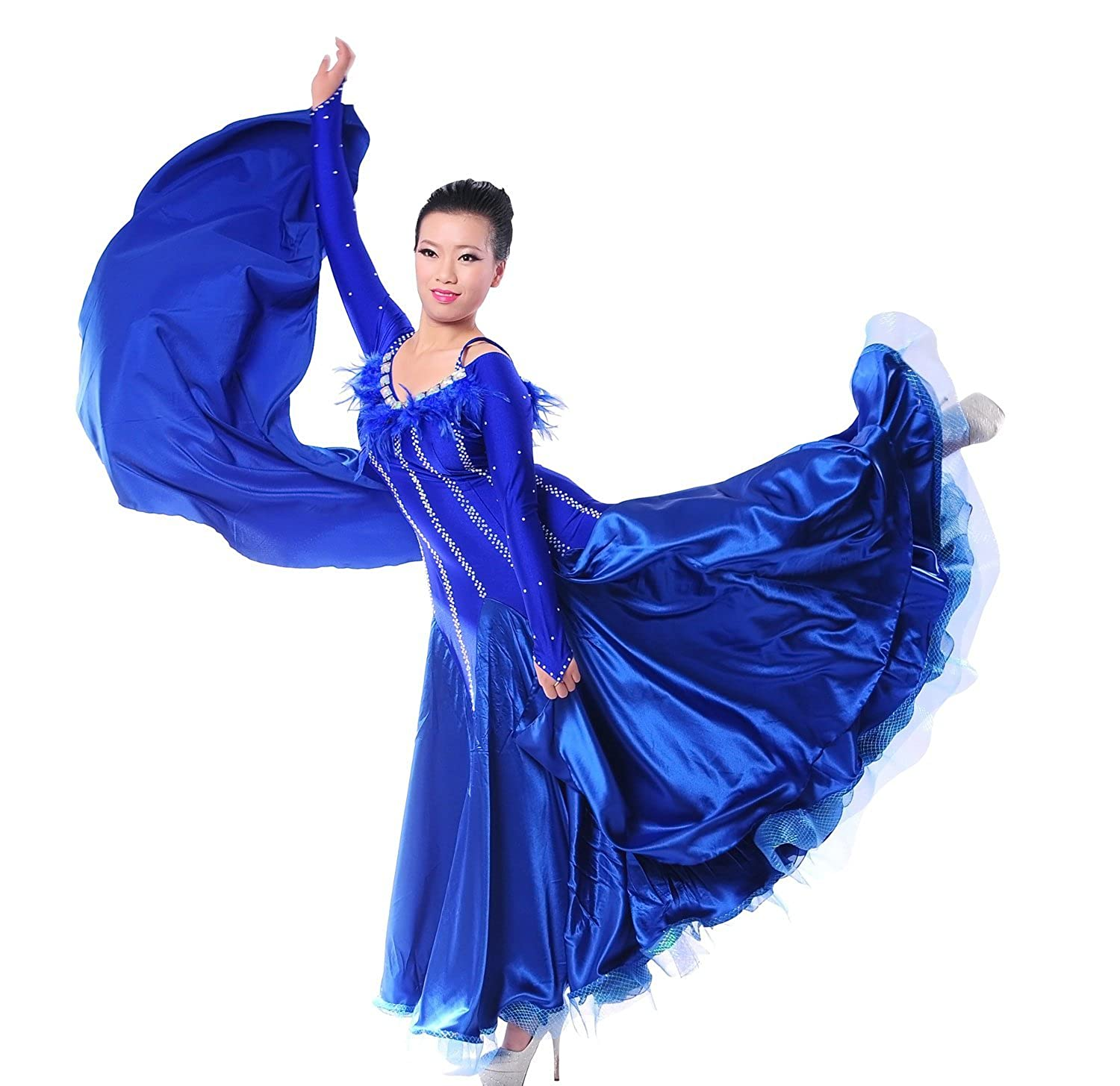 Фото FENGBAY Ladies Competition Ballroom Waltz Tango Dance Dress