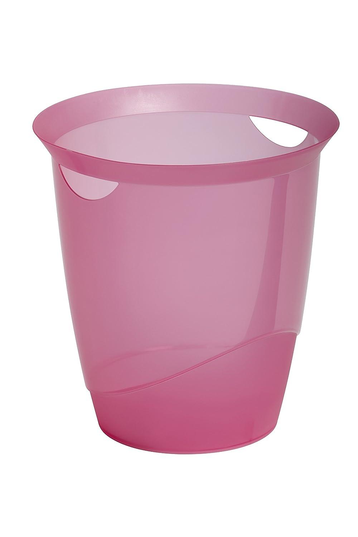 Durable 1701710008 Papierkorb Trend, transparent rosa günstig online kaufen