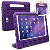 Samsung Galaxy Tab A 10.1 case for kids [SHOCK PROOF KIDS TAB 10.1 CASE] COOPER DYNAMO Kidproof Child Tab A 10.1 inch Cover for School, Girls   Kid Friendly Handle & Stand, Screen Protector (Purple)