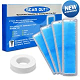 ScarOut! Silicone Scar Sheets for Scar Removal (2-4 Month Supply) – C Section Recovery Scar Treatment, Keloid Scar Removal and more! – 4x Silicon Sheets For Scars in two sizes – Scar Gel Silicone Tape (Color: transparent, Tamaño: 3 by 12cm and 3 by 15cm)