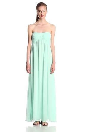 Glamorous Women's Strapless Flowy Maxi Dress, Mint, X-Small