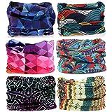 KALILY Headwear Head Wrap Sport Headband Sweatband – 200+ Patterns Magic Scarf Camping, Running, Cycling, Fishing etc (Color: B Pack, Tamaño: Medium)