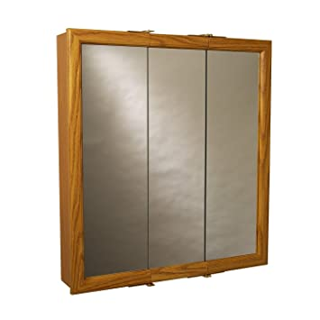 Zenith Products K30 Wood Tri-View Medicine Cabinet