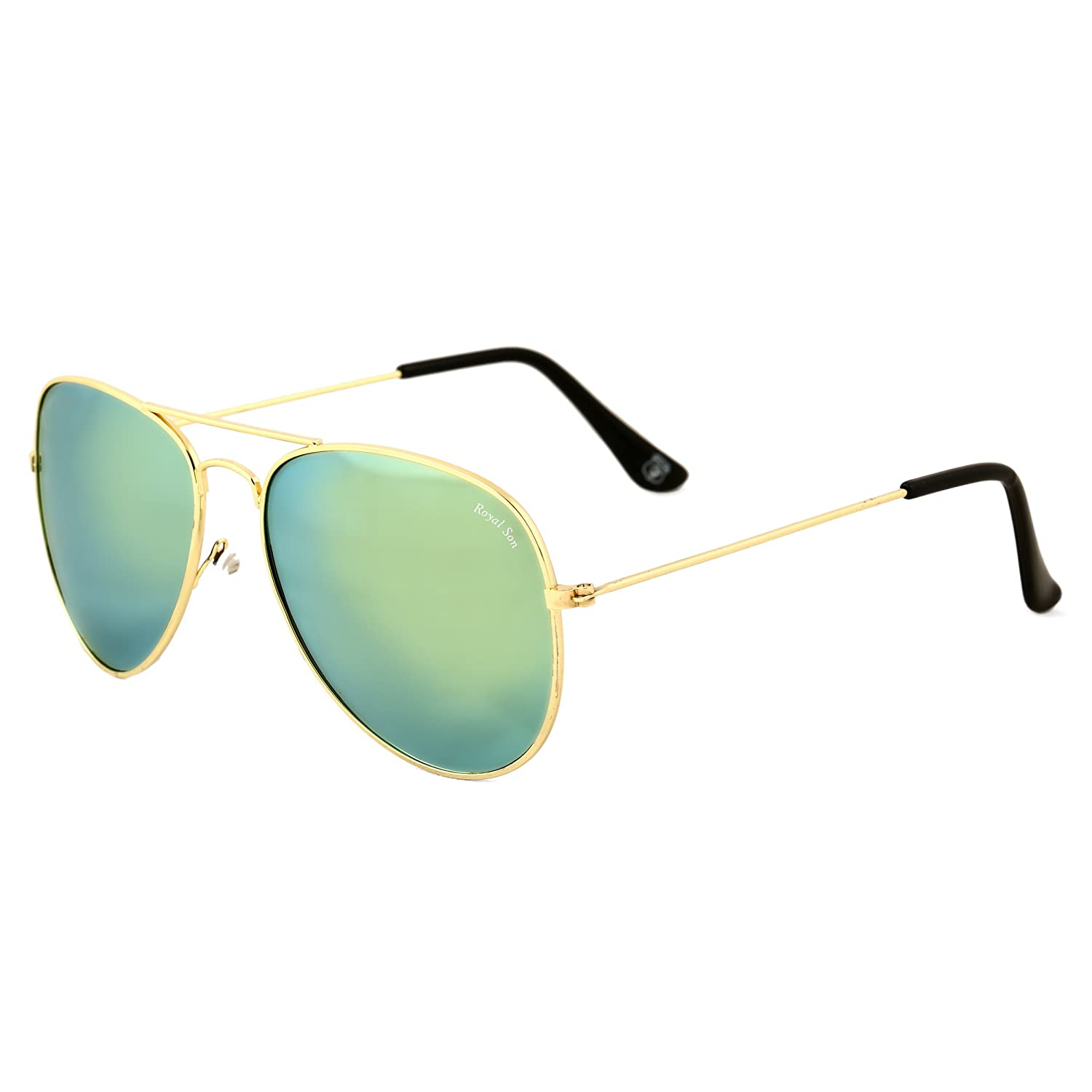 Upto 40% Off + Extra 10% Off On Sunglasses By Amazon | Royal Son UV Protected Aviator Unisex Sunglasses (WHAT0170|58|Green) @ Rs.296.65