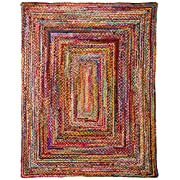 """Casual Handmade Braided Cotton Multi Area Rugs, 7 Feet 6 Inches by 9 Feet 6 Inches (7 6"""" x 9 6"""")"""