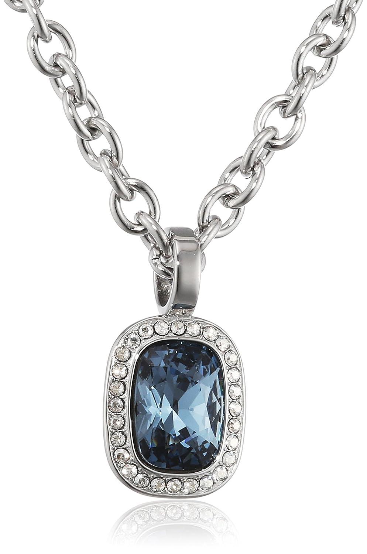 Dyrberg/Kern Damen-Kette ohne Anhänger 15/02 Dolla Ss Blue Edelstahl Kristall blau 50 cm - 337644