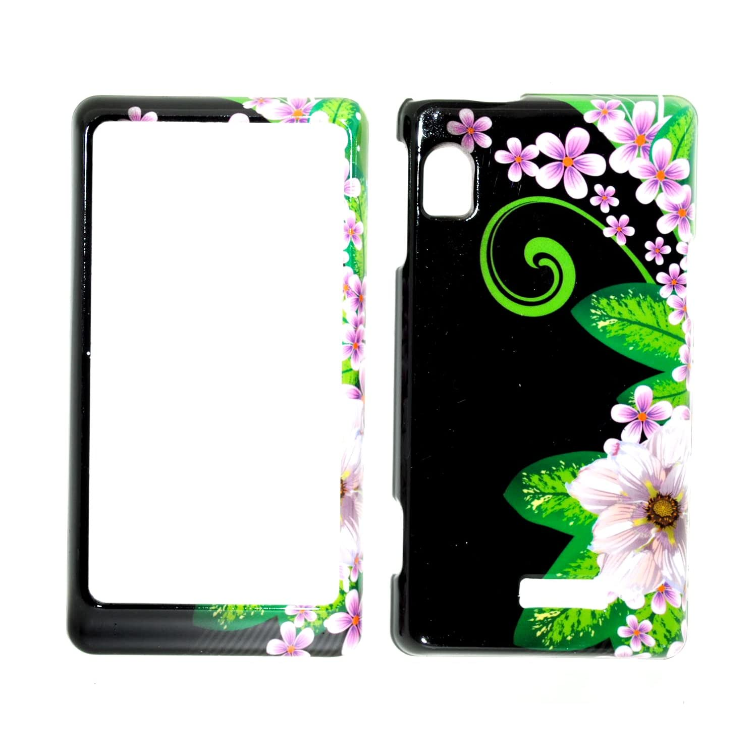 Jungle Flower w/ Pink Sakura Droid 2 A955 - Front