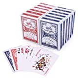 LotFancy Playing Cards, Poker Size Standard Index, 12 Decks of Cards (6 Blue and 6 Red), for Blackjack, Euchre, Canasta, Pinochle Card Game (Color: 12 Decks Standard index)