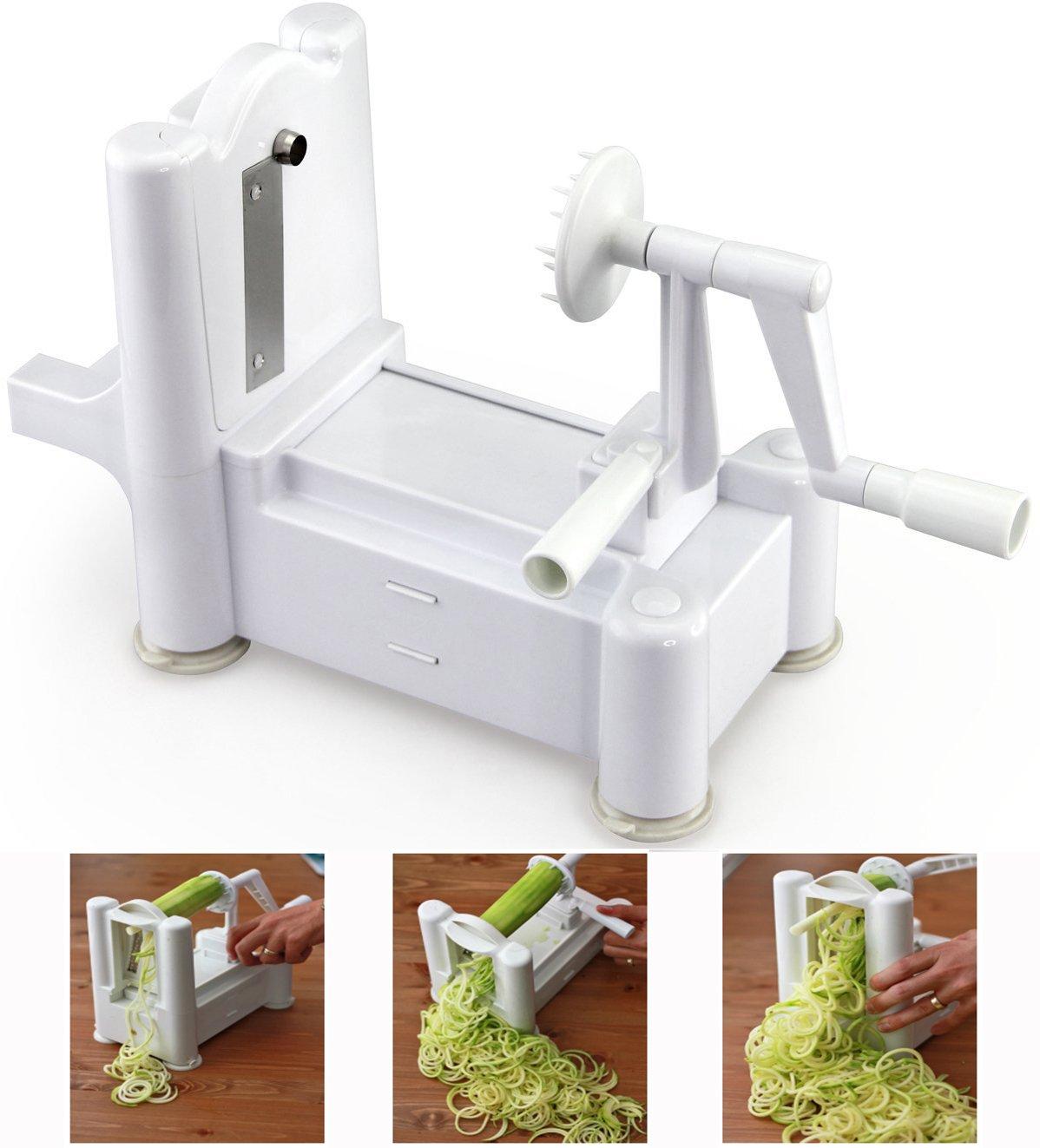 CQ Wellness Tri-Blade Vegetable Spiral Slicer