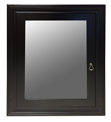 Ancona Imperial Mirror Cabinet with Black Espresso Finish (Set of 2), 22.5-inch