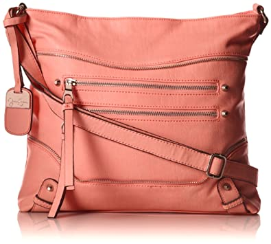 Jessica Simpson Marley Shoulder Bag,Bright Peach,One Size
