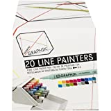 Derwent Graphik Line Painter Set, All 20 Graphik Line Painter Colors (2302234) (Color: Assorted Colors)