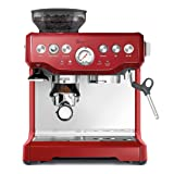 Breville BES870CBXL The Barista Express Coffee Machine, Cranberry Red (Color: Cranberry Red)