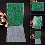 ZHUOTOP Simple Design Green Clovers Pattern Plastic Embossing Folders for DIY Card Making Decoration Supplies