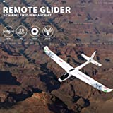 Sunshinehomely RC Glider, WL XK-A800 EPO Fixed-Wing Aircraft 5CH Glider Wingspan 780mm Remote Control Airplane (Color: White)