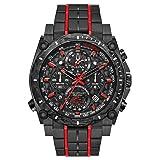 BULOVA Black Stainless Steel Watch-98B313 (Color: Black)
