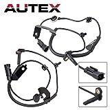 AUTEX 2pcs ABS Wheel Speed Sensor Front Left + Front Right 5105573AA 5105572AA ALS2088 ALS2084 Compatible with Jeep Compass 2007-2015 2.0L 2.4L/Jeep Patriot 2007-2014 2.0L 2.4L/Dodge Caliber 2007-12