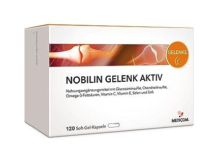 NOBILIN GELENK AKTIV - 480 Glucosamin Chondroitin Kapseln mit Glucosaminsulfat Pulver, Omega-3, Vitamin C, Gelenk Kapseln bei Gelenkschmerzen