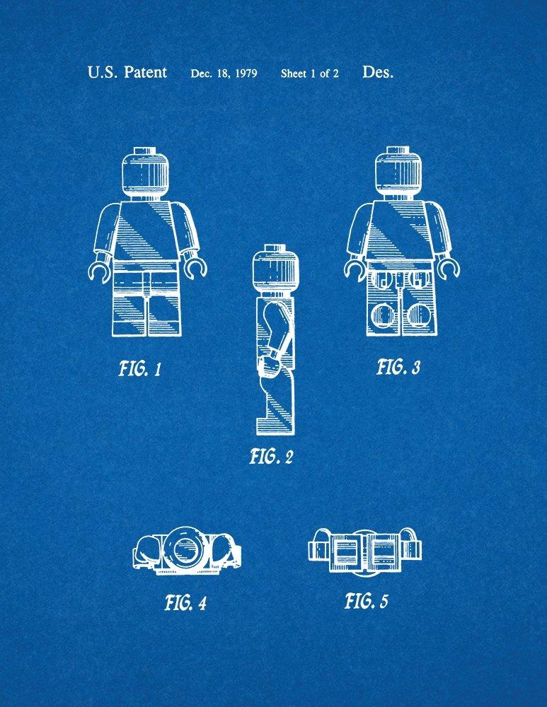 Amazon.com: Lego Toy Patent Art Blueprint Poster (11