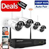 Smonet 4CH 720P HD NVR Wireless Security CCTV Surveillance Systems(WIFI NVR Kits)-Four 1.0MP Wireless WIFI Indoor Outdoor IP Cameras,P2P,65FT Night Vision, 1TB HDD Pre-installed (Color: 4pcs 720P Cams+4CH 1080P NVR(1TB HDD), Tamaño: 720P Wireless System)