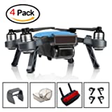 DJI Spark Accessories Set Bundle Combo Landing Gear,Gimbal Guard,Lens Cap Hood Sun Shade Camera Cover Protector,Remote Controller Clip Joystick Protector Accessory