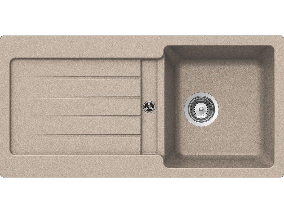 Schock Typos D100 S A Gobi GranitSpüle Auflage EinbauSpüle Beige Küchenspüle  BaumarktKundenbewertung und Beschreibung