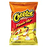 Cheetos Cheese Snacks, Crunchy Flamin Hot, 1-ounce Bags (Pack of 50)