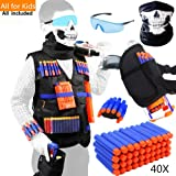Tactical Vest Kit for Nerf Guns for boys N-Strike Elite Series with Foam Darts for Kids