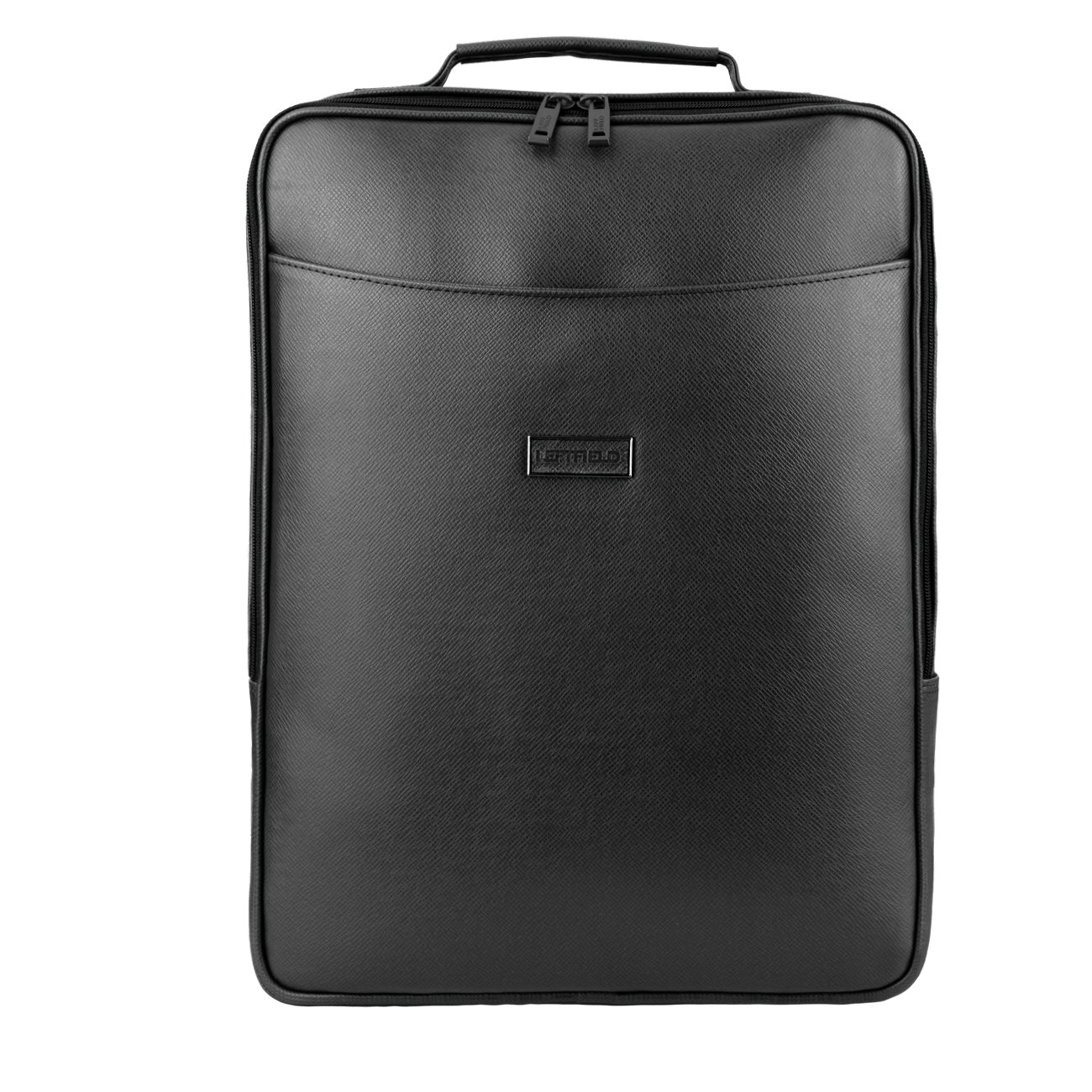 Black Leather Laptop Backpack from Leftfield