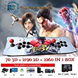 ElementDigital Arcade Game Console 1080P 3D & 2D Games 2260 in 1 Pandora's Box 70 3D Games 2 Players Arcade Machine Arcade Joystick Support Expand 6000+ Games (Color: 2260 Games Pandora's)