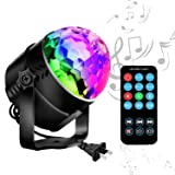 Disco Ball LED Party Lights-TTF Sound Activated LED RGB Strobe Light 7 Color Modes Party Supplies for Halloween Dance Party DJ Club Karaoke Decoration (Color: Black)