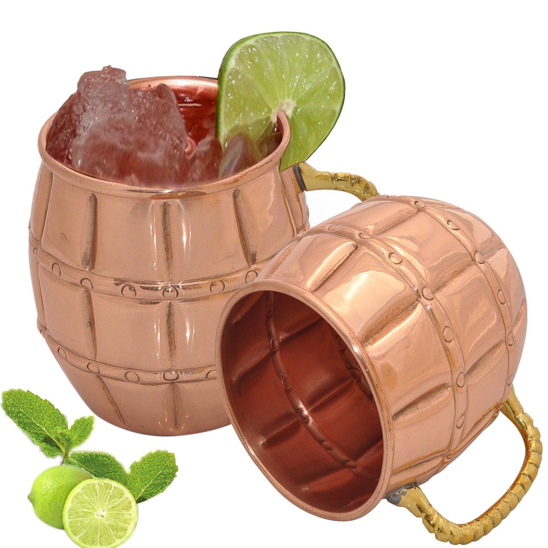Asiacraft pcs oz barrel pure copper mug for moscow