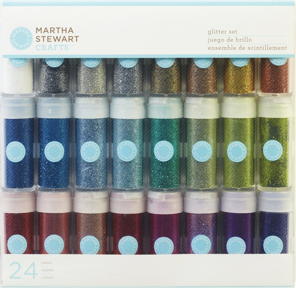 martha stewart craft glitter set 24 colors scrapbook pages