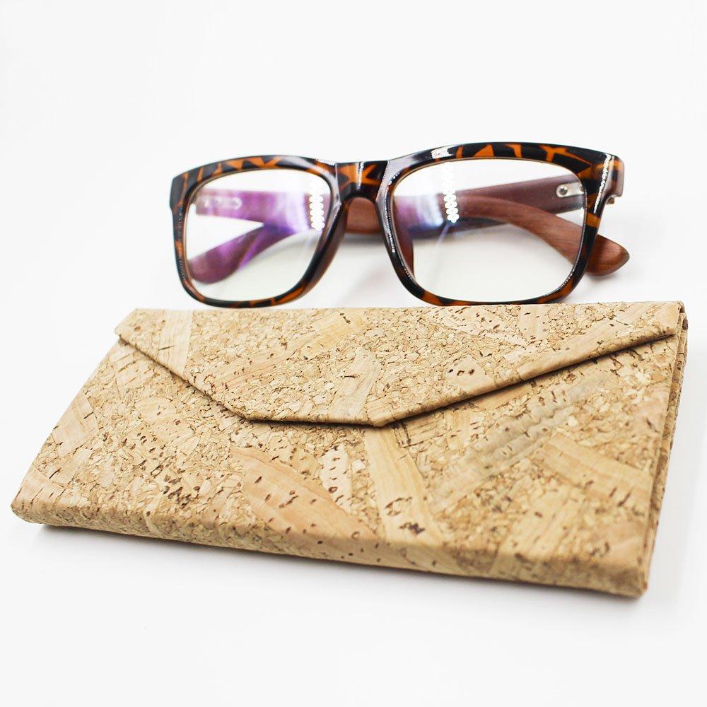 Eyeglasses Case, ASAPS Vintage Foldable Eyeglasses Case (Wood Sawdust) 3
