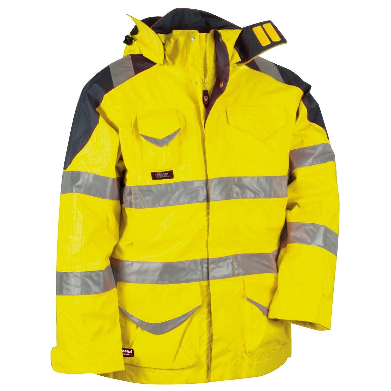 Cofra Warnschutz Winterjacke 4-in-1 Protection V024-0-00, Wetterschutzjacke, Große 50, 40-00V02400-50