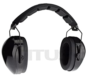 Titus Triple Black B4 Earmuffs - 26/32 NRR Noise Reduction Hearing Protection - Silence Any Environment (Original, Without Pouch) (Color: Without Pouch, Tamaño: Original)