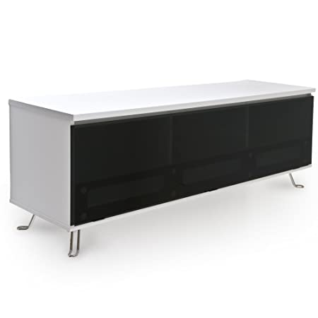 RGE Designs Multi-Media Units MDF TV Storage and Display Unit with Lacquer, 150 x 45 x 55 cm, White