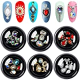 36pcs 3d Bows Nail Art Rhinestones, Alloy Jewelry Diy Nail Flatback Crystals Decoration,Manicure Charms Large Mix Sizes Crystal Diamonds Gems Stones Nail Art Supplies (Color: K-004, Tamaño: one size)