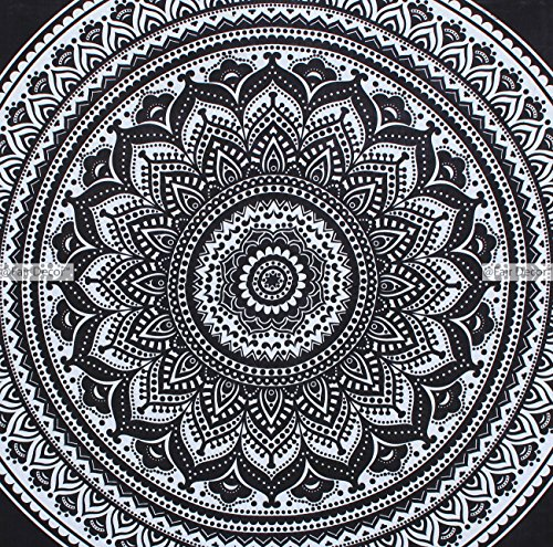 Black-and-white-ombre-mandala-Duvet-cover-Indian-Bohemian-Doona-Quilt-Blanket-Cover-with-pillowcase-exclusive-by-fairdecor