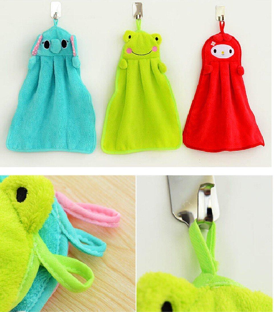 Cute Animal Microfiber Kids Children Cartoon Absorbent Hand Dry Towel Lovely Towel For Kitchen Bathroom Use