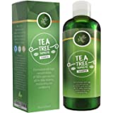 Sulfate Free Tea Tree Shampoo Dandruff Treatment for Women & Men with Pure Rosemary + Jojoba Oils - Healthy Scalp Cleanser for Colored Dry + Oily + Thick + Fine Natural Hair Care for Silky Soft Hair (Tamaño: 8oz)
