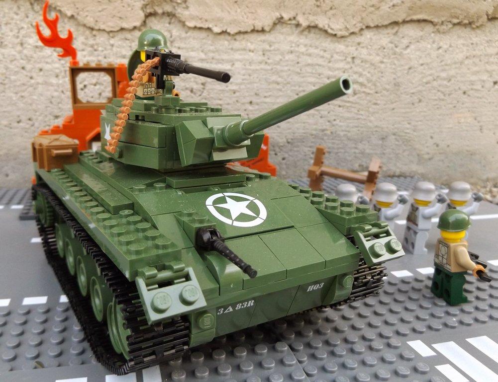 Modbrix 2457 – ★ US ARMY M24 Chaffee inkl. custom US MARINES Soldaten aus original Lego© Teilen ★ günstig