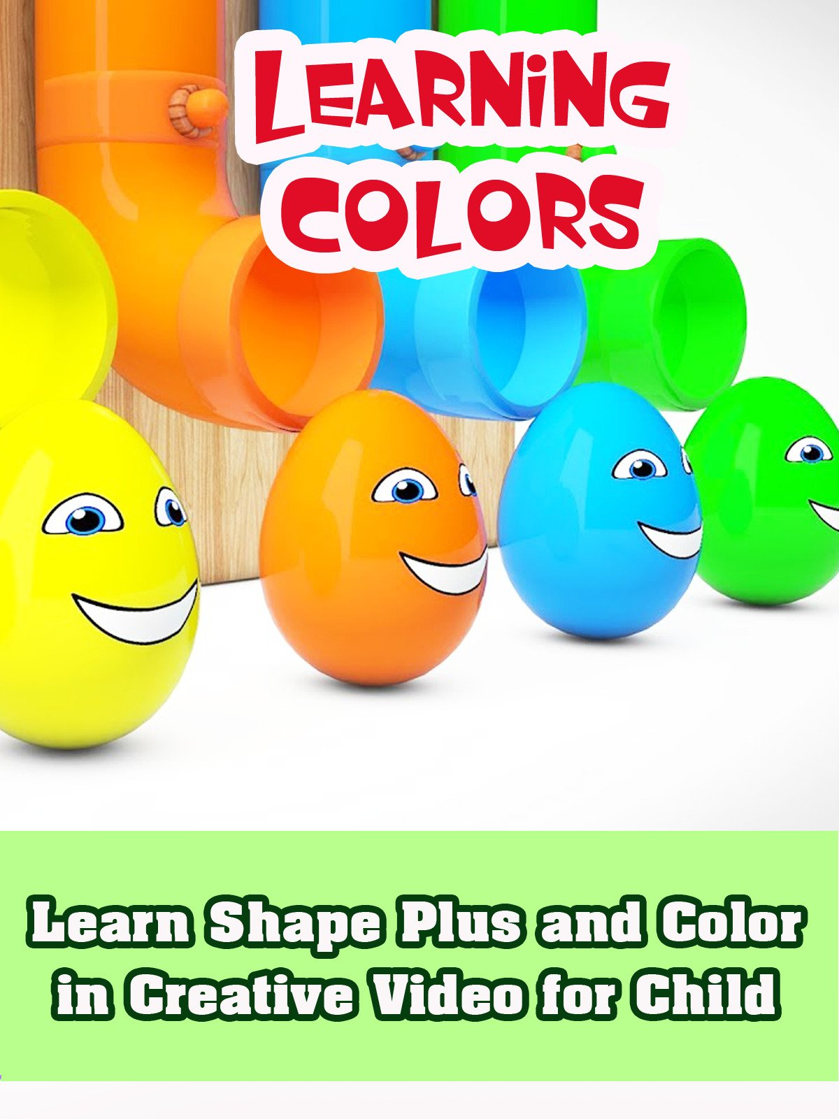 Learn Shape Plus and Color in Creative Video for Child